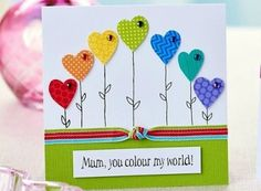 mothers-day-cards papercraft projects- Browse free paper crafting projects split into their individual categories Mothers Day Crafts For Kids, Fathers Day Crafts, Mothering Sunday, Mother's Day Diy, Kids Cards, Cards Diy, Creative Cards, Homemade Cards, Mothers Day Cards Homemade