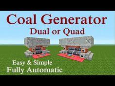 Minecraft tutorial : Dual and Quad Charcoal Generator