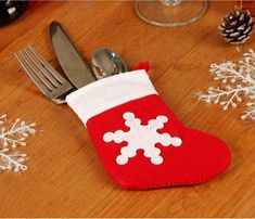 stocking silverware holder - Christmas Silverware Holders