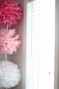 DIY Ombre Tissue Pom Poms for any party  www.HautePNK.com