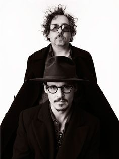 Two of the most insane....ly good creative minds. Johnny Depp & Tim Burton. Photo: Andrew Eccles.