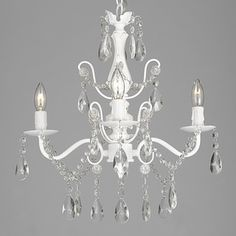 Chrome Crystal Chandelier   Overstock.com Shopping - The Best Deals on Chandeliers & Pendants