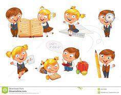De Nouveau à L'école Illustration de Vecteur - Image: 48375066