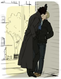 I am stuck at work on a beautiful Saturday with little (nothing) to do... BAM.. ... Johnlock! By the awesomesauce Reapersun. Click.