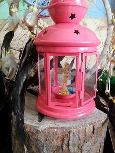Tinkerbell decoration at a Peter Pan birthday party! See more party ideas at CatchMyParty.com!