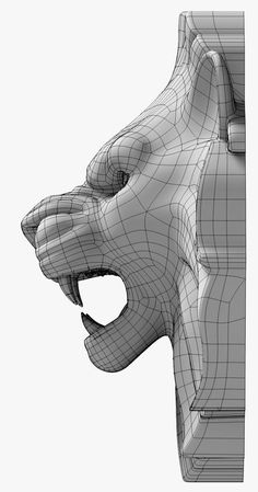 Drawing Design lion s head model Character Modeling, 3d Character, Character Design, 3d Drawings, Animal Drawings, Polygon Modeling, Lion Mask, Sculpture Head, 3d Cnc