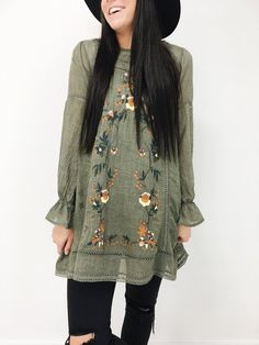 Rosewood Tunic in Olive | ROOLEE