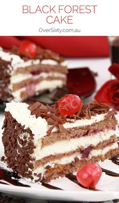 Black Forest Cake - With cherry and chocolate, this rich, creamy black forest cake dessert is so decadent it's almost sinful. We won't judge if you go back for seconds.