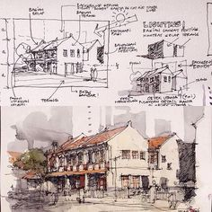 Interesting Find A Career In Architecture Ideas. Admirable Find A Career In Architecture Ideas. Watercolor Architecture, Architecture Sketchbook, Landscape Architecture, Architecture Design, Architecture Concept Drawings, Sketches Arquitectura, Interior Sketch, Hand Sketch, Urban Sketchers