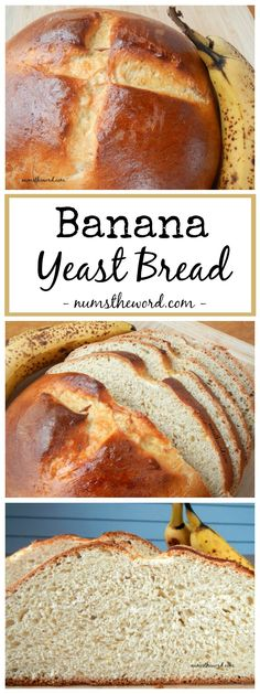 This banana yeast bread isn't what you're used to. It's a classic yeast bread with bananas inside, giving it a wonderful mild banana flavor. A must try!