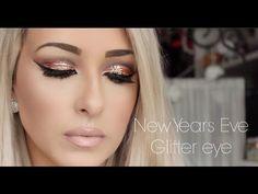 NEW YEAR'S EVE Makeup | Urban Decay x Gwen Stefani Palette Glitter - YouTube