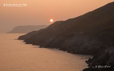 Hazy sunset in Mumbles - The coastal path between Langland Bay and Caswell Bay, Gower, Wales. Wales Uk, South Wales, Cymric, Swansea, See It, Sunsets, Paths, Photo Galleries, Coastal