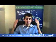 www.FollowNick.com 16. Adapt or Die! - Facebook Marketing About Facebook, Free Courses, Facebook Marketing, Social Media, Youtube, Social Networks, Social Media Tips, Youtube Movies