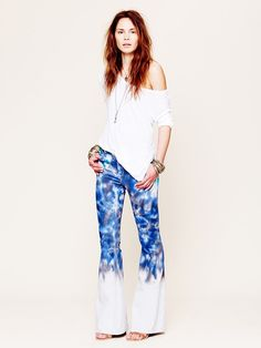 Free People Color Fade Tie Dye Flare, $128.00