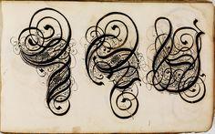 Kalligraphische Schriftvorlagen von Johann Hering zu Kulmbach - Johann Hering 1624-1634 (Bamberg) g by peacay, via Flickr