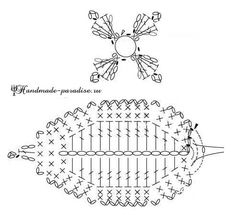 gortenziya-kryuchkom-shemyi-vyazaniya-8 Crochet Leaf Patterns, Crochet Leaves, Knitted Flowers, Form Crochet, Crochet Chart, Crochet Motif, Irish Crochet, Crochet Designs, Crochet Stitches