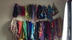 Scarf organization clothesline