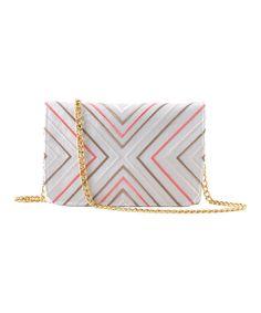 Take a look at this Shiraleah Ivory Venezia Silk Shoulder Bag on zulily today!