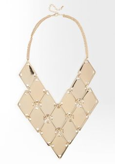 bebe | Multi Piece Laser Cut Statement Necklace