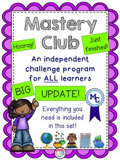 Mrs. Renz' Class: Mastery Club is Now Updated and BETTER Than Ever!