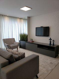 Living Room Tv Unit Designs, Living Room Sofa Design, Home Room Design, Living Room Interior, Living Room Decor, Winter Living Room, White Rooms, House Rooms, Tv Rooms