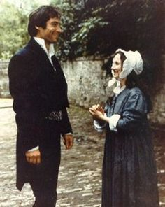 Tim and Zelah taking a break from filming Jane Eyre - love this Jane Eyre 1983, Charlotte Bronte Jane Eyre, Fanart, Bronte Sisters, Timothy Dalton, Jane Austen Books, Mr Darcy, Wuthering Heights, Best Novels