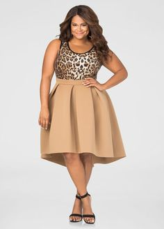 Hi-Lo Neoprene Skirt