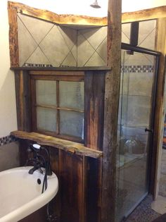 Awesome country bathroom done by my brother at his home in Montana. Montana country bathroom.