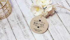 Wedding Name Tags Kraft Tags Custom Wedding by DiyCraftyScraps