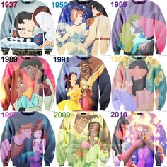 Disney couple sweaters by Taryn England <3 Need these!!