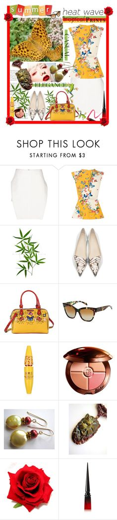 """""""How To Dress For a Heat Wave"""" by belladonnasjoy ❤ liked on Polyvore featuring J.W. Anderson, Oasis, Sophia Webster, Nicole Lee, SALT., Guerlain, Christian Louboutin and Lapcos"""