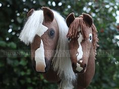 Stick Horses, Hobby Horse, Animals, Hairdos, Little Gifts, Most Beautiful Horses, Animales, Animaux, Wooden Horse