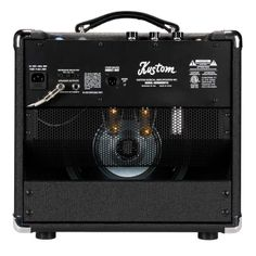 "KUSTOM Defender V15 | The Defender™V15 is an EL-84 powered, 15-watt tube combo with a 10"" Celestion speaker, great tones and professional features. In addition to the Volume and Tone controls, it features a four position EQ low-frequency response control for American to British low end response and blended settings in-between, 1/4 power switch, multiple impedance operation and transformer - tapped speaker-emulated, XLR balanced line out with ground lift."