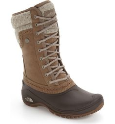 Free shipping and returns on The North Face 'Shellista' Waterproof Insulated Snow Boot (Women) at Nordstrom.com. A faux-shearling lined, waterproof boot with a streamlined, street-style design is enhanced with 200 grams of PrimaLoft® Eco insulation and a durable TNF™ Winter Grip® rubber sole. IcePick® temperature-sensitive lugs provide non-slip confidence when walking on icy, wintry surfaces.