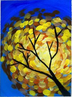 Interesting perspective on painting and Autumn tree. That artist woman: Fall Swirls.