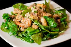 Warm, Spinach, Shrimp Salad - The Grille, Rushmore Plaza Holiday Inn #RapidCity…