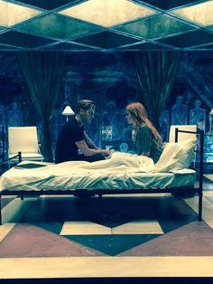 Jace and Clary... Clace - Dominic Sherwood and Katherine MacNamara - scene from ShadowHunters