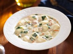 Restaurant-Inspired Recipe: Olive Garden's Thick Chicken And Gnocchi Soup