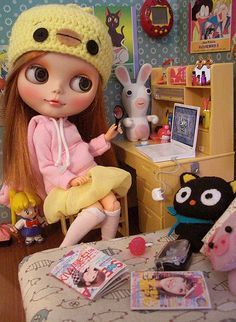 """"""" Geek and Girly """" by Cyrielle  #doll #blythe"""