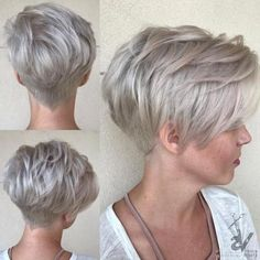 50 Mind-Blowing Simple Short Hairstyles for Fine Hair 2019 50 Mind-Blowing Simple Short Hairstyles for Fine Hair hair is not a curse. Hair of this type is very appealing if properly handled. Thin Hair Haircuts, Cute Short Haircuts, Round Face Haircuts, Short Hairstyles For Women, Bob Hairstyles, School Hairstyles, Pixie Haircut Round Face, Pinterest Hairstyles, Haircut Medium