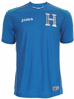 The new Honduras 2014 World Cup Home Shirt is mainly white with light blue  and blue details 5a70f96aa