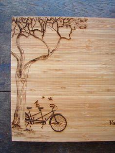 Personalized Cutting Board with Tree and by TheCuttingBoardShop