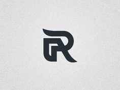 R monogram logo by Damian Jagielski Typography Logo, Graphic Design Typography, Logo Branding, Branding Design, Lettering, Monogram Design, Monogram Logo, Logo Templates, Letter Templates