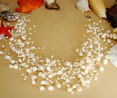 Couture Freshwater Pearl Illusion Necklace is beautiful and elegant for your winter or beach wedding.