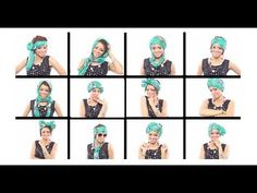 12 Head Wrap Scarf Tutorials In Under 7 Minutes - YouTube