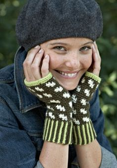 "Free pattern for ""Fair Isle Fingerless Mitts""!"