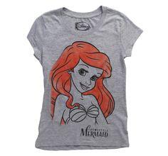 Womens The Little Mermaid Ariel Watercolor T-Shirt