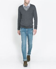 Image 5 of SWEATER WITH PIPED NECKLINE from Zara