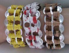 Plastique Recreations: Free Crochet Pattern - Party Favor-Plarn Pop Tab Bracelet