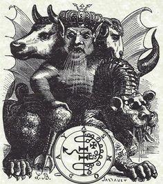 Asmodeus Goetia Grimoire 8 x 11 Poster with sleeve